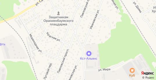 Безымянный переулок в Ломоносове с номерами домов на карте. Спутник и схема онлайн