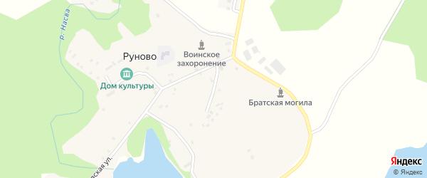 Озерная улица на карте деревни Машарино Псковской области с номерами домов