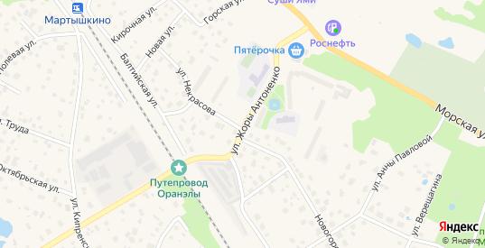 Улица Жоры Антоненко в Ломоносове с номерами домов на карте. Спутник и схема онлайн
