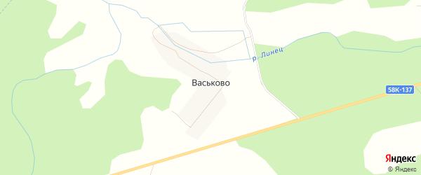 Карта деревни Васьково в Псковской области с улицами и номерами домов