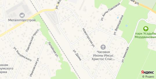 Линейный переулок в Ломоносове с номерами домов на карте. Спутник и схема онлайн