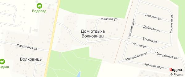 Еловая улица на карте поселка Дома отдыха