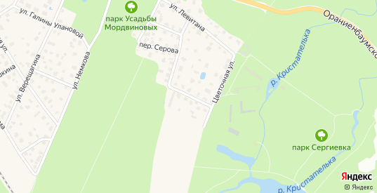 Ботаническая улица в Ломоносове с номерами домов на карте. Спутник и схема онлайн