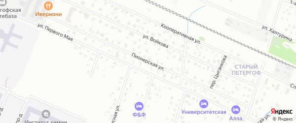 Пионерская улица на карте Петергофа с номерами домов