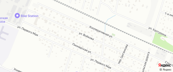 Улица Войкова на карте Петергофа с номерами домов