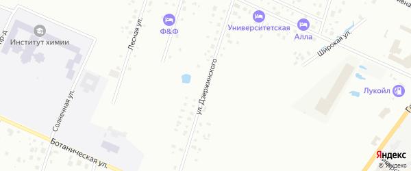 Улица Дзержинского на карте Петергофа с номерами домов