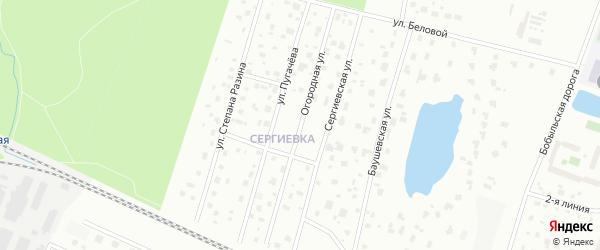 Огородная улица на карте Петергофа с номерами домов