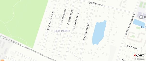 Сергиевская улица на карте Петергофа с номерами домов