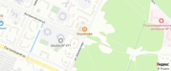 Улица Шахматова на карте Петергофа с номерами домов