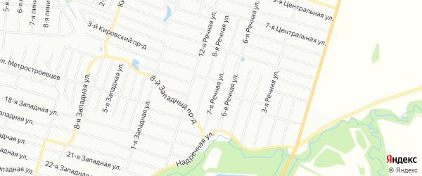 Территория СНТ Дальняя связь-2 на карте Ломоносовского района Ленинградской области с номерами домов