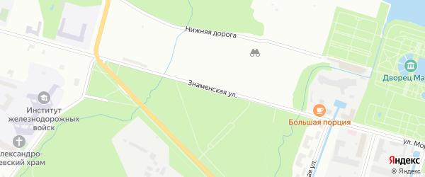 Знаменская улица на карте Петергофа с номерами домов