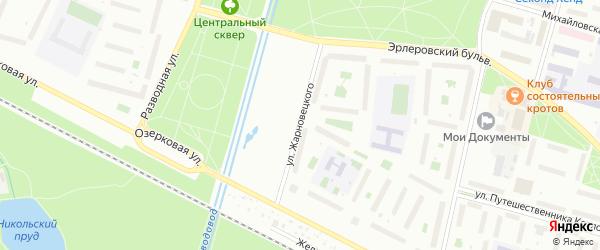 Улица Жарновецкого на карте Петергофа с номерами домов
