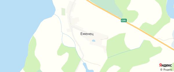 Карта деревни Еменец в Псковской области с улицами и номерами домов