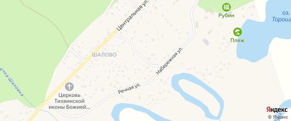 2-я Садовая улица на карте микрорайона Шалово с номерами домов