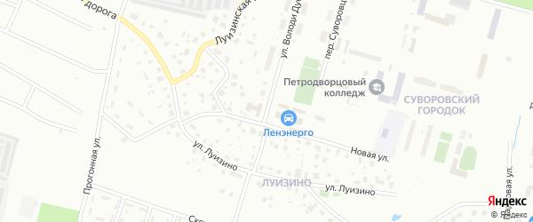 Улица Володи Дубинина на карте Петергофа с номерами домов