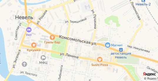 Комсомольская улица в Невеле с номерами домов на карте. Спутник и схема онлайн
