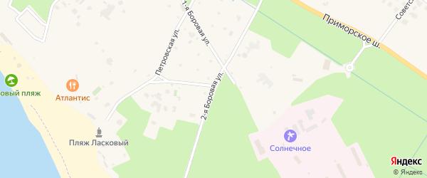 2-я Боровая улица на карте поселка Солнечного с номерами домов