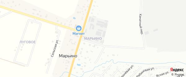 Территория Марьино на карте Петергофа с номерами домов