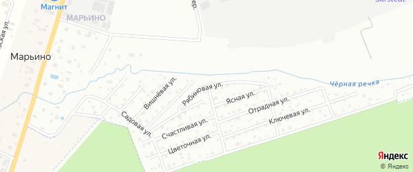 Улица сдт Красные Зори Рябиновая (Марьино) на карте Петергофа с номерами домов