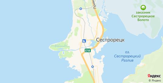 Карта Сестрорецка с улицами и домами подробная. Показать со спутника номера домов онлайн