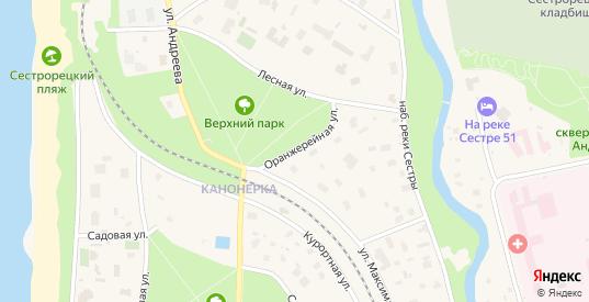 Оранжерейная улица в Сестрорецке с номерами домов на карте. Спутник и схема онлайн