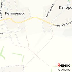 Участок для индивидуальной жилой застройки в деревне Кемпелево на карте