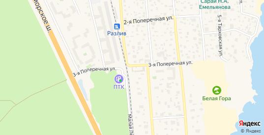 3-я Поперечная улица в Сестрорецке с номерами домов на карте. Спутник и схема онлайн