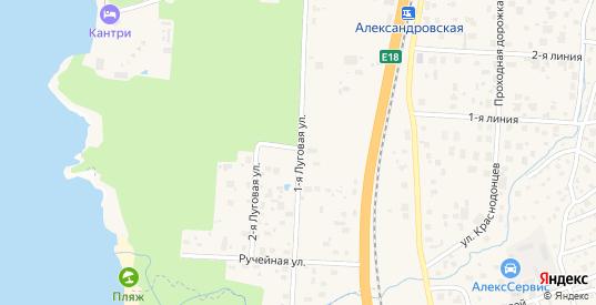 1-я Луговая улица в Сестрорецке с номерами домов на карте. Спутник и схема онлайн