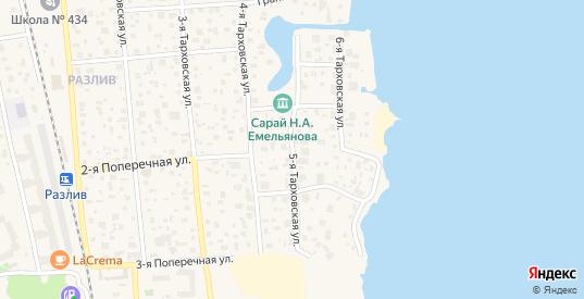 5-я Тарховская улица в Сестрорецке с номерами домов на карте. Спутник и схема онлайн