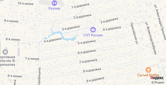 Улица Сдт Разлив 5-я дорожка в Сестрорецке с номерами домов на карте. Спутник и схема онлайн