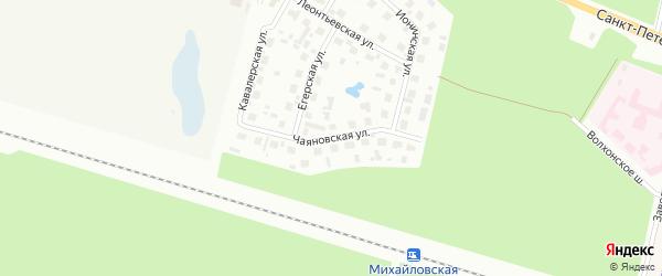 Чаяновская улица на карте Петергофа с номерами домов