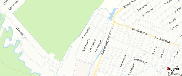 Территория СНТ Солнечная Поляна на карте Всеволожского района Ленинградской области с номерами домов
