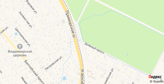 Железнодорожная улица в Сестрорецке с номерами домов на карте. Спутник и схема онлайн