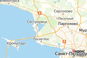 Карта г. Сестрорецк Ленинградская область