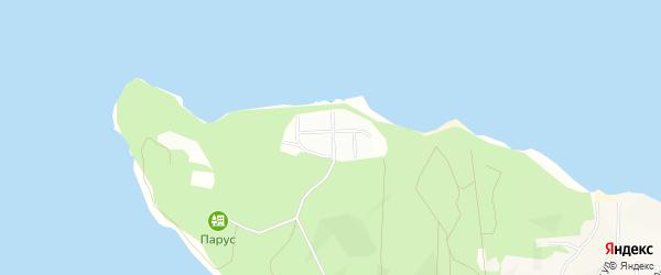 Карта садового некоммерческого товарищества Массива Петровского Аметиста в Ленинградской области с улицами и номерами домов
