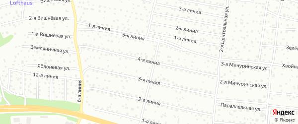 Улица 4-я Линия на карте территории Выборжца с номерами домов