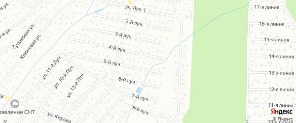 Улица 3-й луч на карте садового некоммерческого товарищества Зари-4 (нИИ Поиска) с номерами домов
