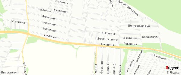 Территория СНТ Канонерец на карте Всеволожского района Ленинградской области с номерами домов