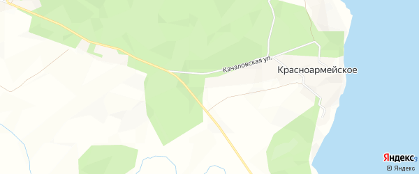 Карта поселка Коверино п ДНП У двух озер в Ленинградской области с улицами и номерами домов