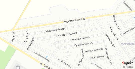Улица Островского в Гатчине с номерами домов на карте. Спутник и схема онлайн