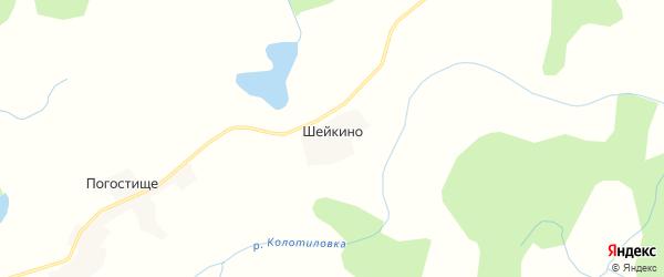 Карта деревни Шейкино в Псковской области с улицами и номерами домов