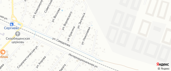 Улица Николаева (Сергиево) на карте Санкт-Петербурга с номерами домов
