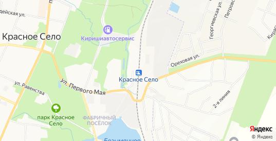 СТ Веретено на карте Красного Села с номерами домов