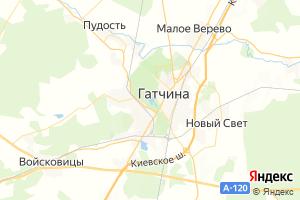 Карта г. Гатчина Ленинградская область