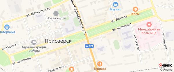 Микрорайон Речник на карте Приозерска с номерами домов