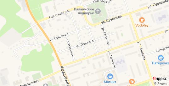 Улица Горького в Приозерске с номерами домов на карте. Спутник и схема онлайн