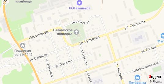 Улица Суворова в Приозерске с номерами домов на карте. Спутник и схема онлайн
