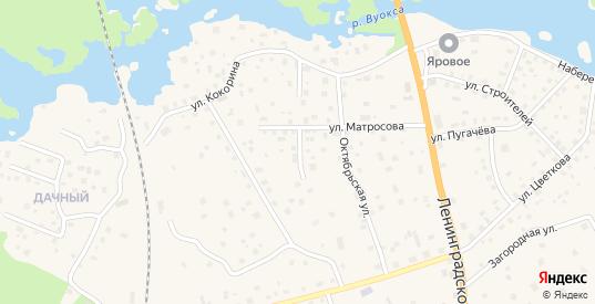 Оборонная улица в Приозерске с номерами домов на карте. Спутник и схема онлайн