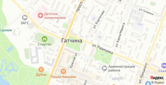 Улица Профессора Л.И Русинова в Гатчине с номерами домов на карте. Спутник и схема онлайн