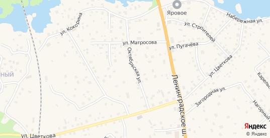 Октябрьская улица в Приозерске с номерами домов на карте. Спутник и схема онлайн